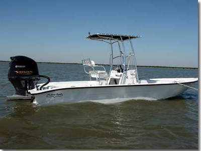 Captain Lynn Smith  Uses A 24 FT. Shallow Sport Fishing Boat, Powerd By A Yamaha 250-HP Four Stroke VMAX Outboard.