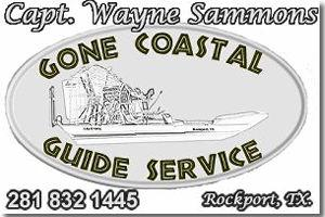 Captain Wayne Sammons, Gone Coastal Guide Service and Air Boat Tours Rockport Texas.